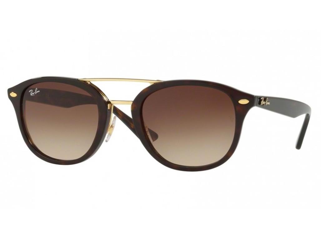 dea5e47c86cd7 Óculos de Sol Ray-Ban Redondo Armação Acetato Tartaruga Lente Marrom Degradê  Sem Plaquetas 0rb2183
