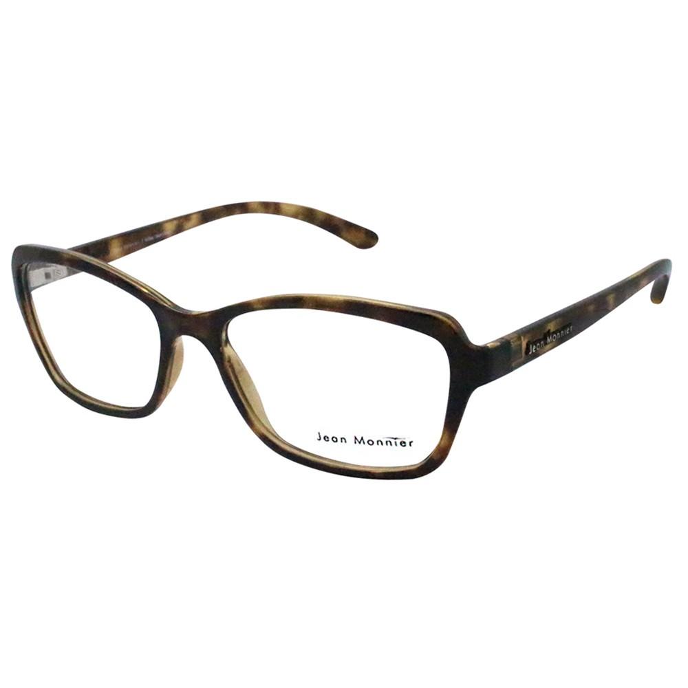 b93a960aa43c9 Óculos de Grau Jean Monnier Quadrado Acetato Tartaruga Aro Fechado Sem  Plaquetas 0j83155e35252 ...