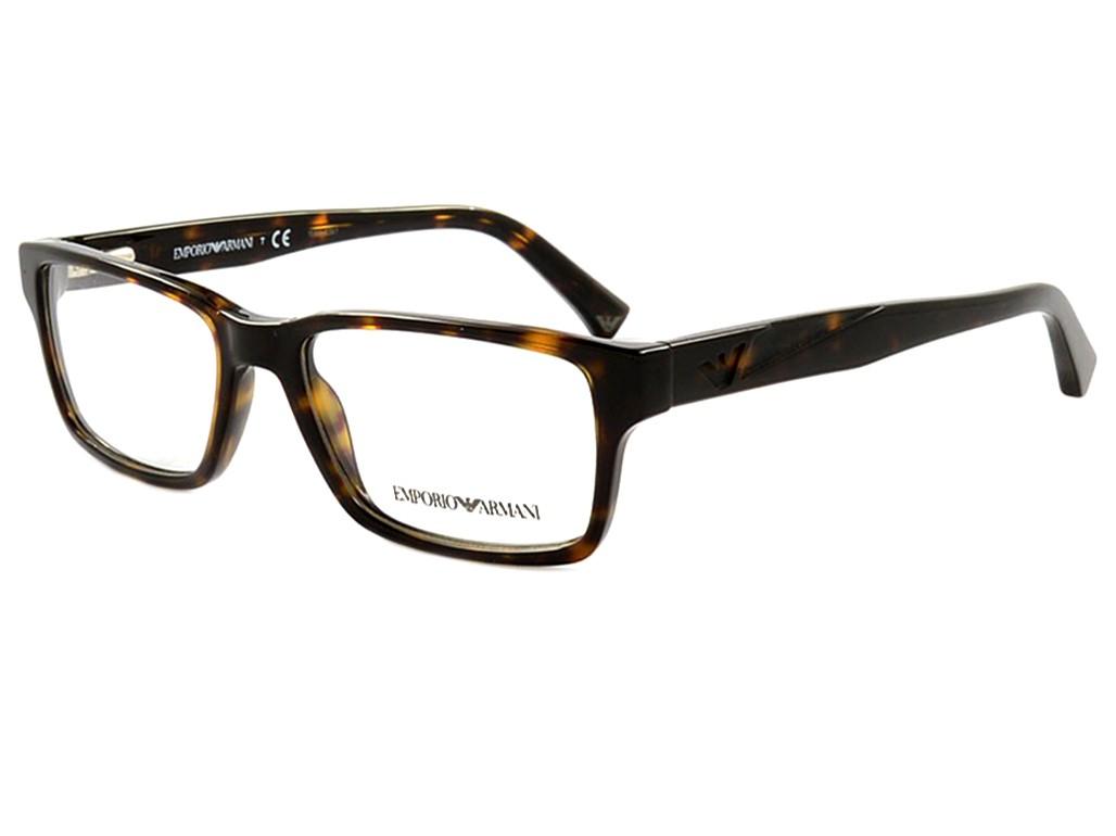 Óculos de Grau Emporio Armani Retangular Acetato Tartaruga Aro Fechado Sem  Plaquetas 0ea3087 5026 54 9bee93770f