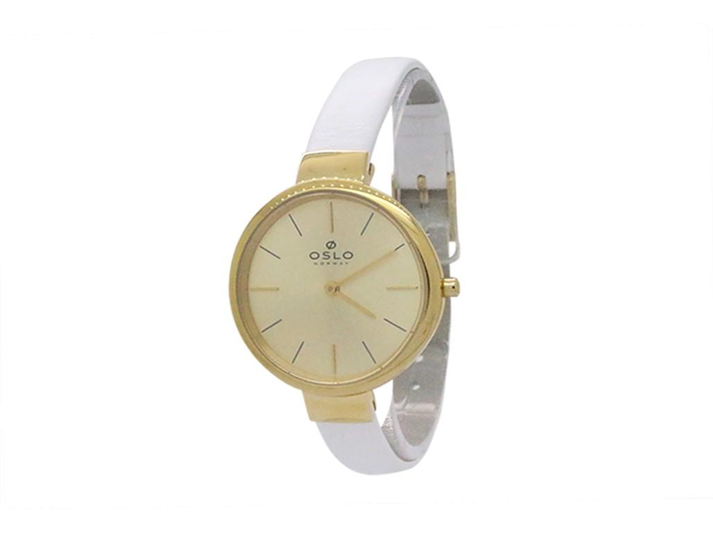 e6d6da7c71e Relógio Oslo Dourado e Branco Feminino Authentika Joias