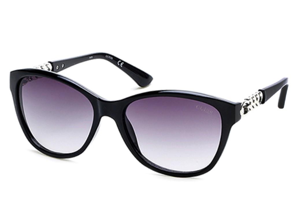 Óculos de Sol Guess Gatinho Armação Acetato Preta Lente Preta Degradê Sem  Plaquetas gu7451 5801b f92bc02930