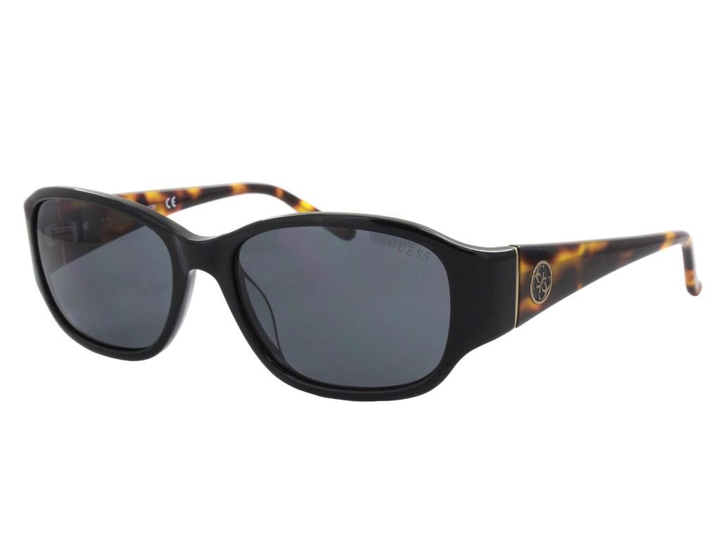 d64df9598a98d Óculos de Sol Guess Quadrado Armação Acetato Preta Lente Preta Comum Sem  Plaquetas gu7436 5601a