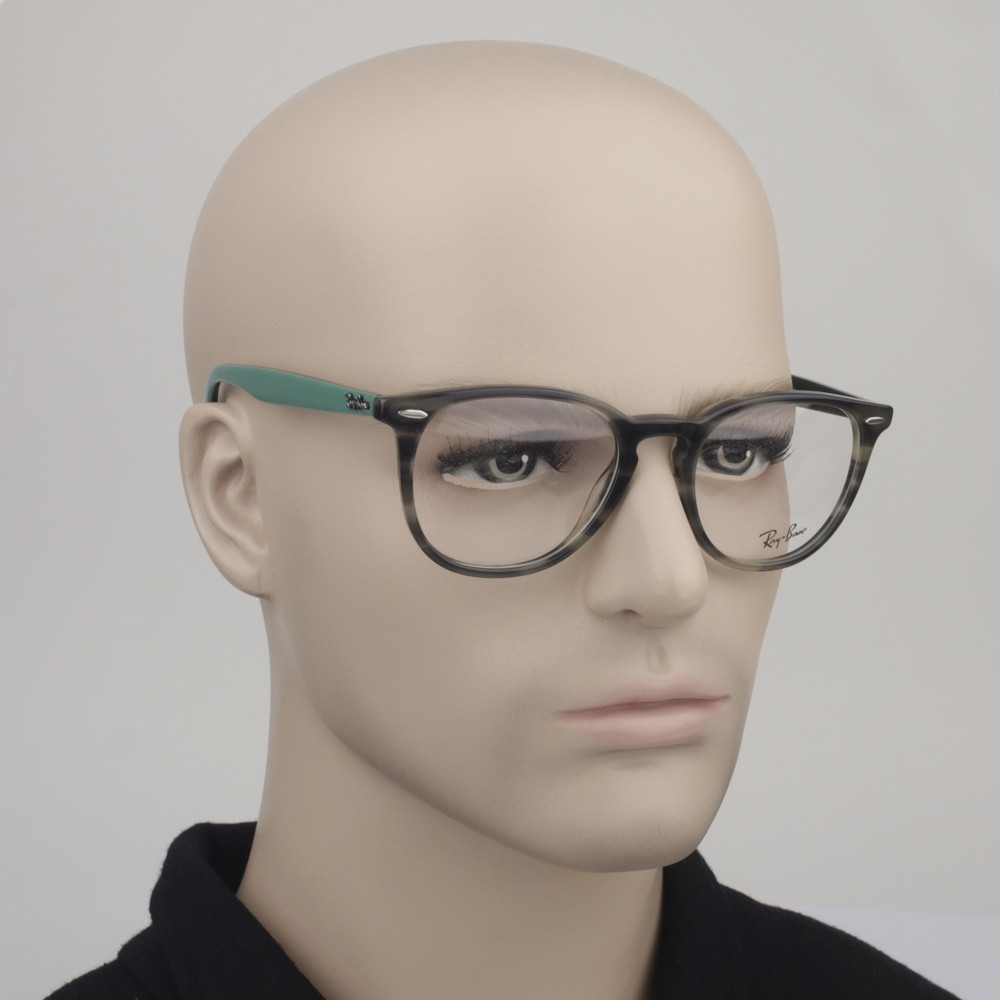 ... Óculos de Grau Ray-Ban Redondo Acetato Tartaruga Aro Fechado Sem  Plaquetas 0rx7159 5800 52 185f55f46d
