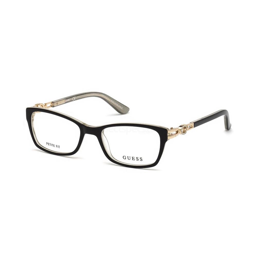 Óculos de Grau Guess Retangular Acetato Preta Aro Fechado Sem Plaquetas  gu2677 53005 ... c271c9cde9