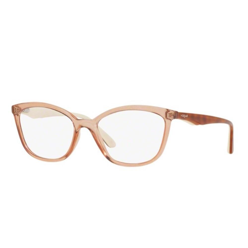 a317231196076 Óculos de Grau Vogue Gatinho Acetato Marrom Aro Fechado Sem Plaquetas  0vo5128l 2502 53 ...