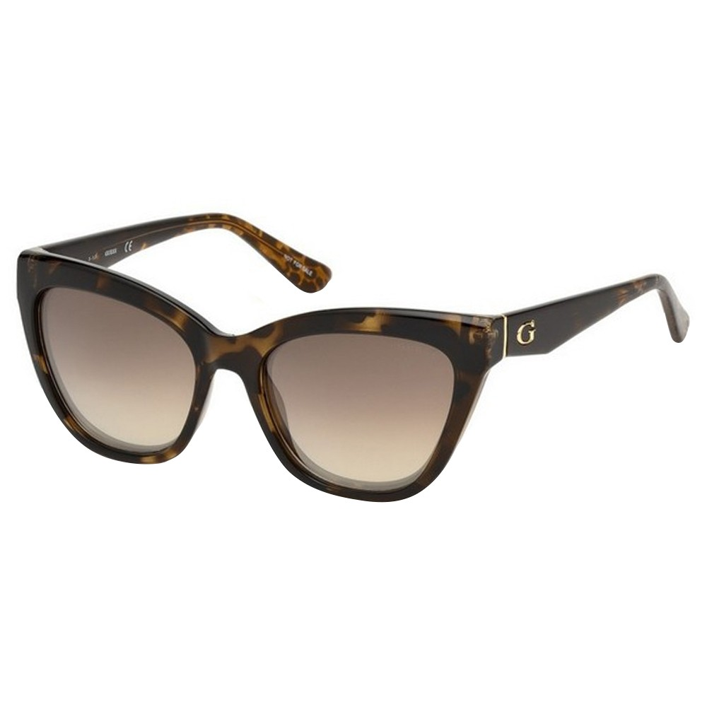 67246b9da634f Óculos de Sol Guess Gatinho Armação Acetato Tartaruga Lente Marrom Comum Sem  Plaquetas gu7540 5556g ...