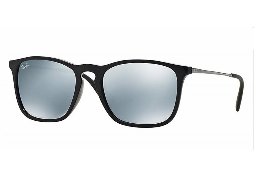 Óculos de Sol Ray-Ban Quadrado Armação Acetato Preta Lente Cinza Espelhada  Sem Plaquetas 0rb4187l601 ... cc98b83b6b
