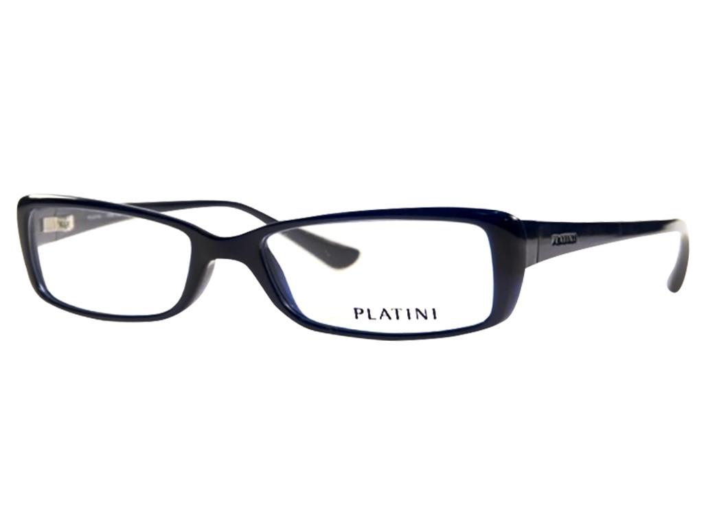 a0dec53e4b0ad Óculos de Grau Platini Retangular Acetato Azul Aro Fechado Sem Plaquetas  0p93117 d772 52