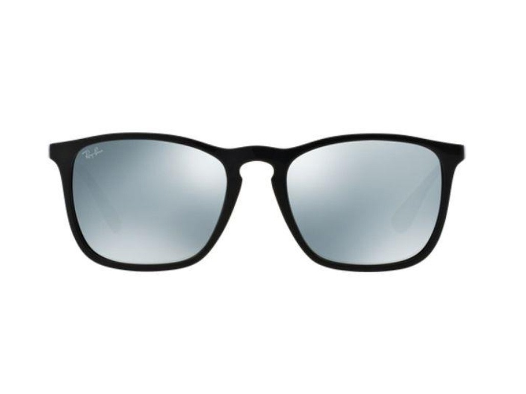 ... Óculos de Sol Ray-Ban Quadrado Armação Acetato Preta Lente Cinza  Espelhada Sem Plaquetas 0rb4187l601 a977396d8c