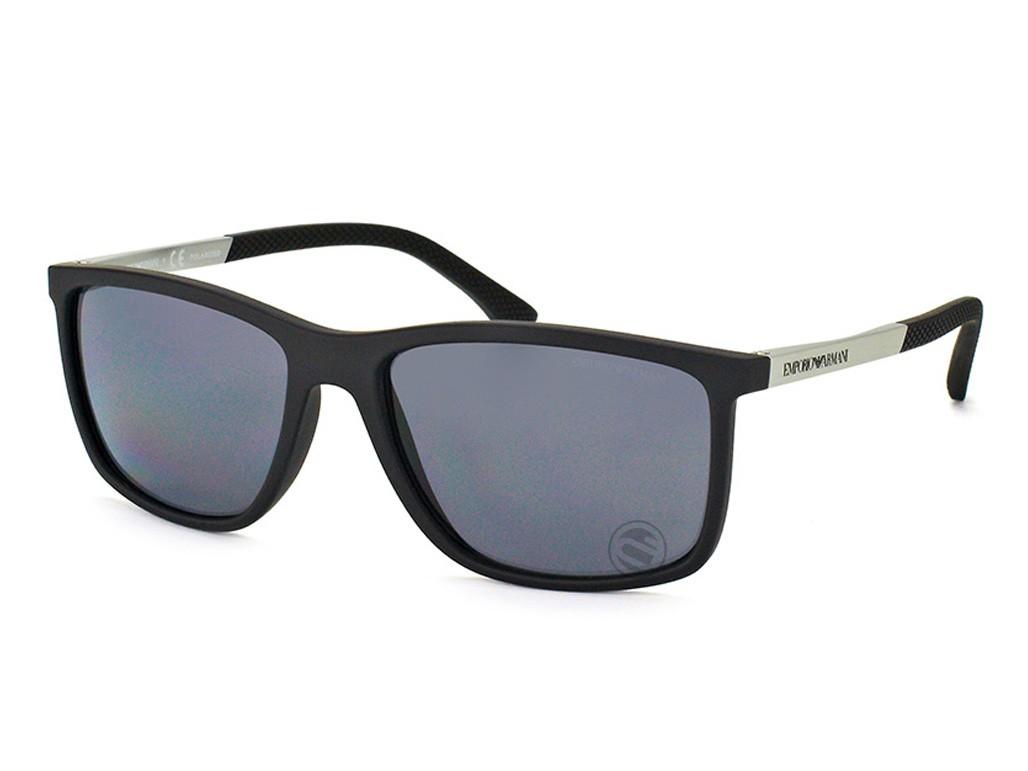 46be65025c5a5 Óculos de Sol Emporio Armani Quadrado Armação Metal Preta Lente Preta Comum  Sem Plaquetas 0ea405850638158