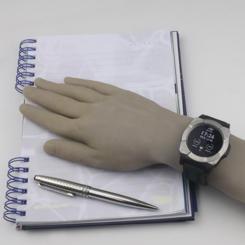 56adf6d759c ... Relógio Mormaii Revolution Smart Watch Caixa Redonda Digital Fibra de  Vidro Prata Pulseira Silicone Verde e ...