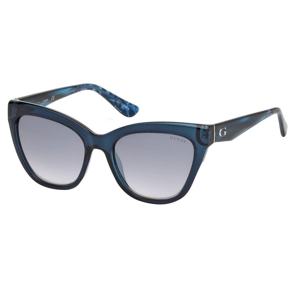 889b02f93db51 Óculos de Sol Guess Gatinho Armação Acetato Azul Lente Azul Espelhada Sem  Plaquetas gu7540 5590x ...