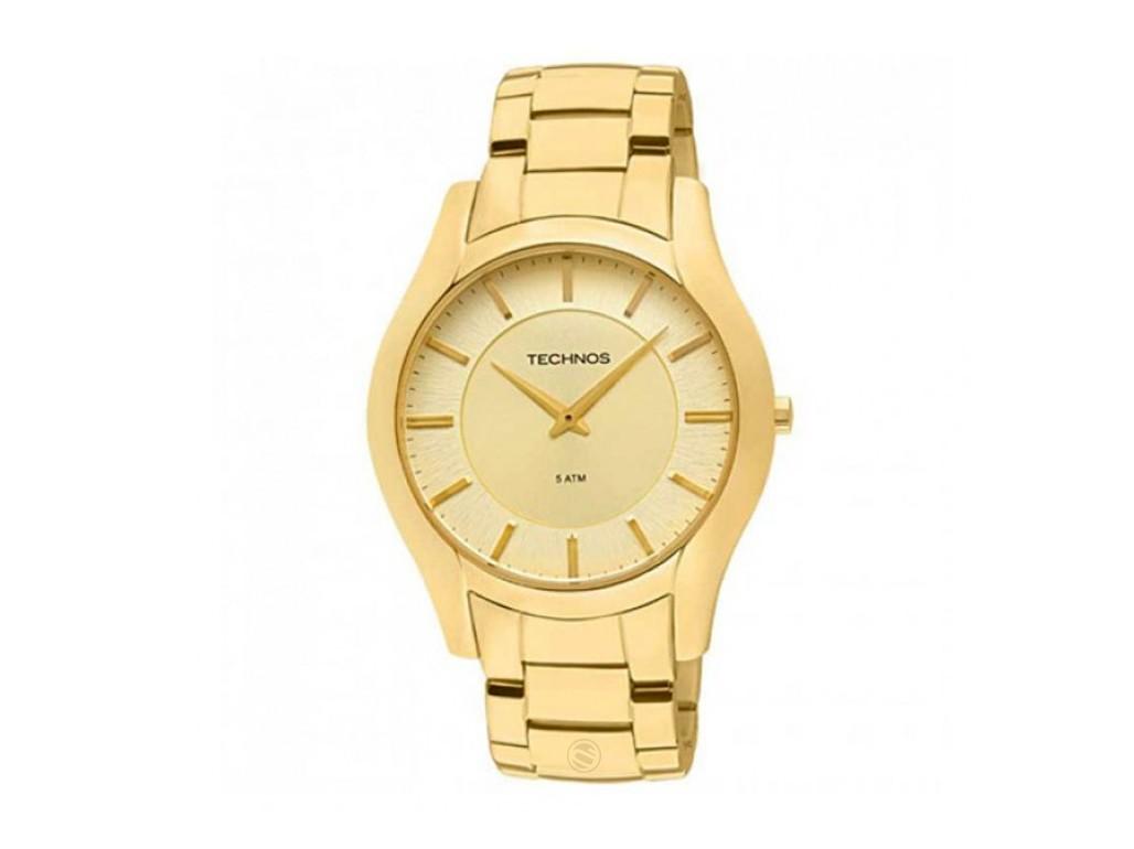 c2023bc08a3 Relógio Technos Classic Slim Dourado Masculino Authentika Joias