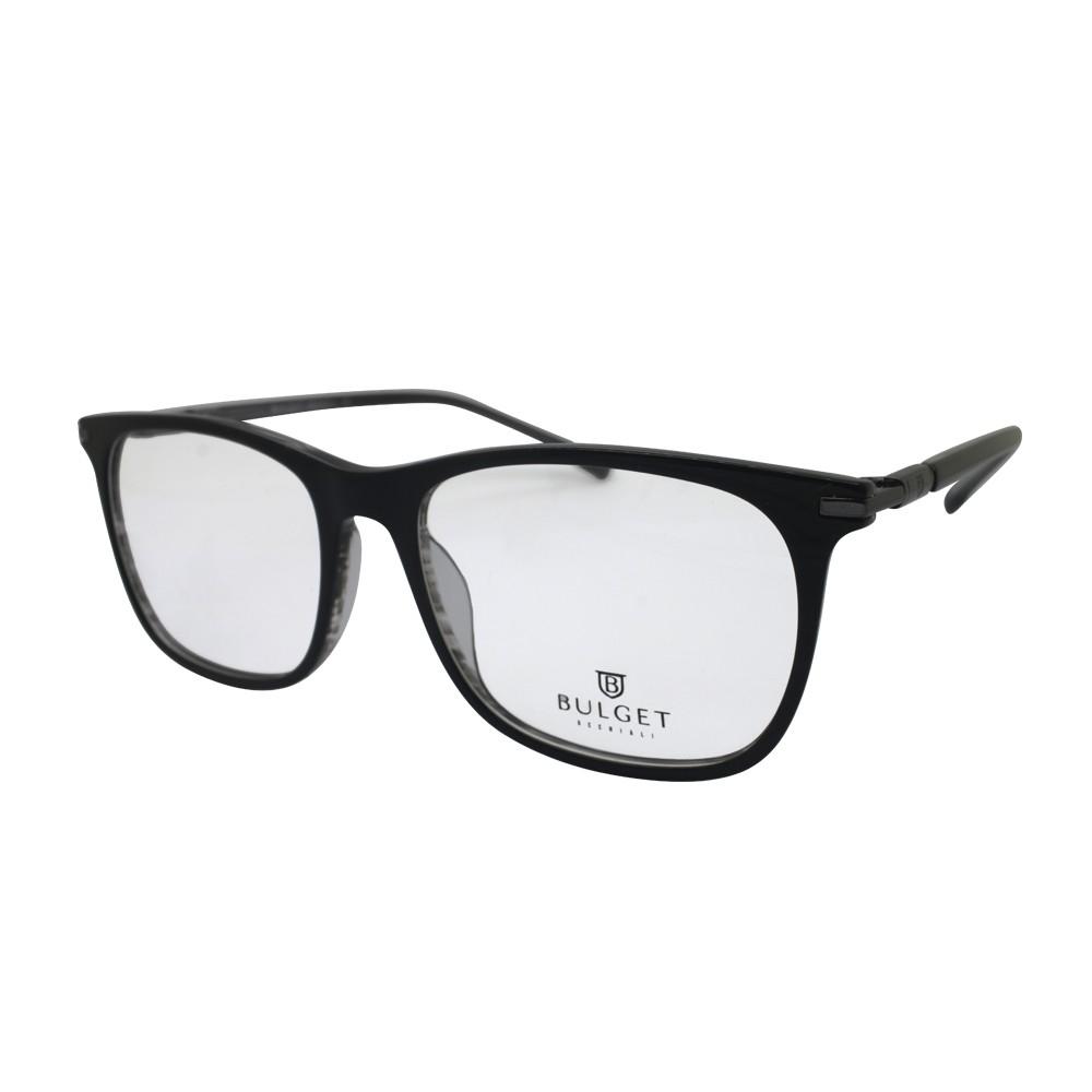 Óculos de Grau Bulget Quadrado Acetato Preta Aro Fechado Sem Plaquetas  bg6255 a01 ... 8068d01bbd