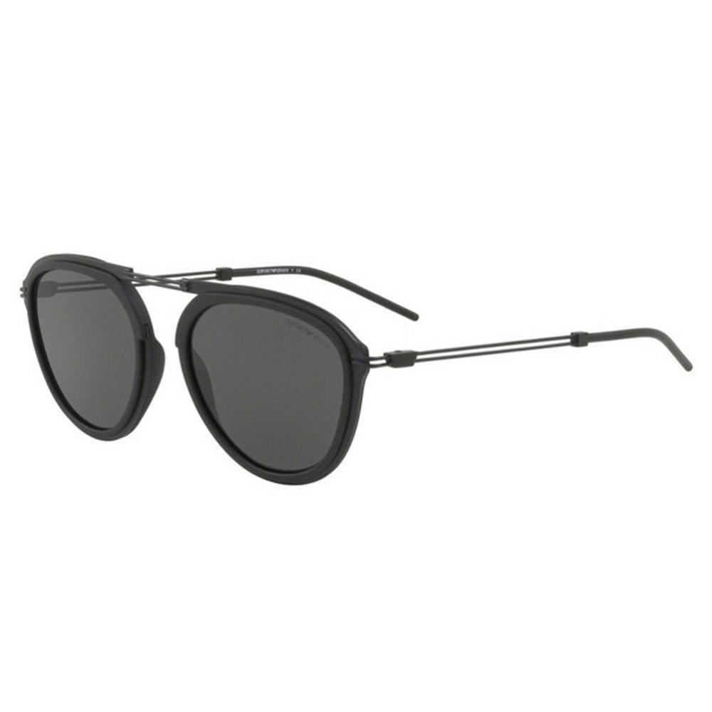 65eaddc5a5e18 Óculos de Sol Emporio Armani Redondo Armação Plástico Preto Lente Preta  Comum Sem Plaquetas ea2056 30018754 ...