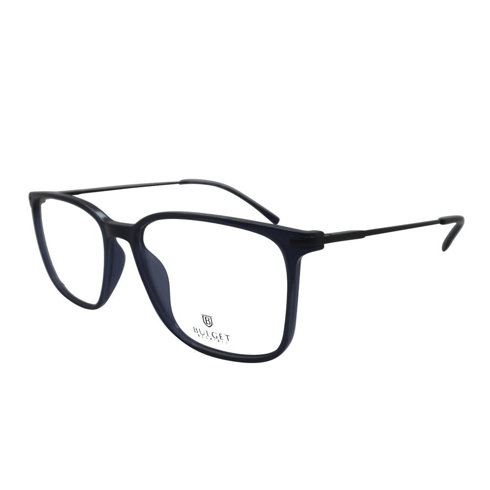 Óculos de Grau Bulget Retangular Acetato Preta Aro Fechado Sem Plaquetas  bg4109 t01 ... ce5046dea3