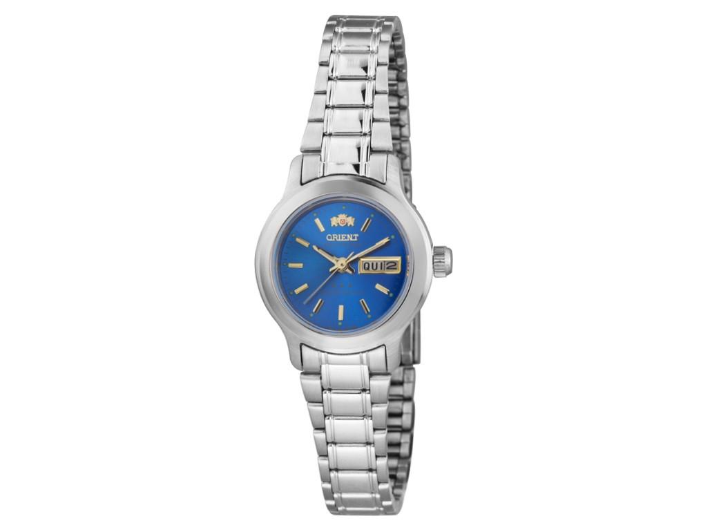 c771952bbe0 Relógio Orient Automatic Prata e Azul Feminino Authentika Joias