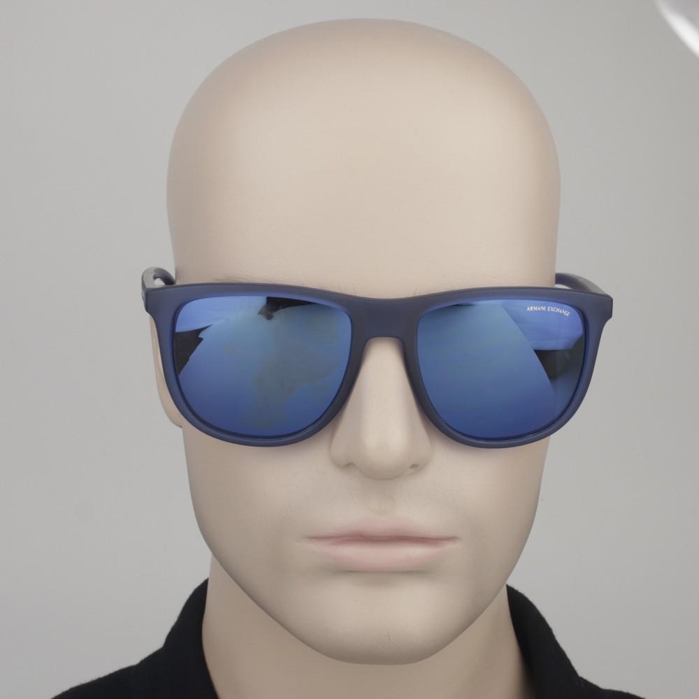 804dfda2e42ca ... Óculos de Sol Armani Exchange Quadrado Armação Acetato Azul Lente Azul  Espelhada Sem Plaquetas 0ax4078s 82595556 ...