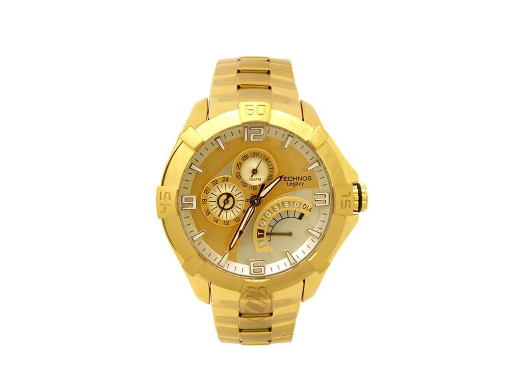 5cedef80225 Relógio Technos Classic Legacy Dourado Multifunção Authentika Joias