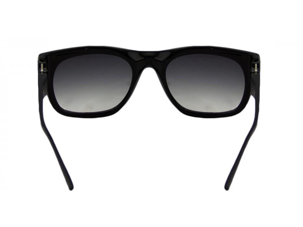 84847b0590bbf ... Óculos de Sol Champion Quadrado Armação Acetato Preta Lente Preta  Degradê Sem Plaquetas gs00020a