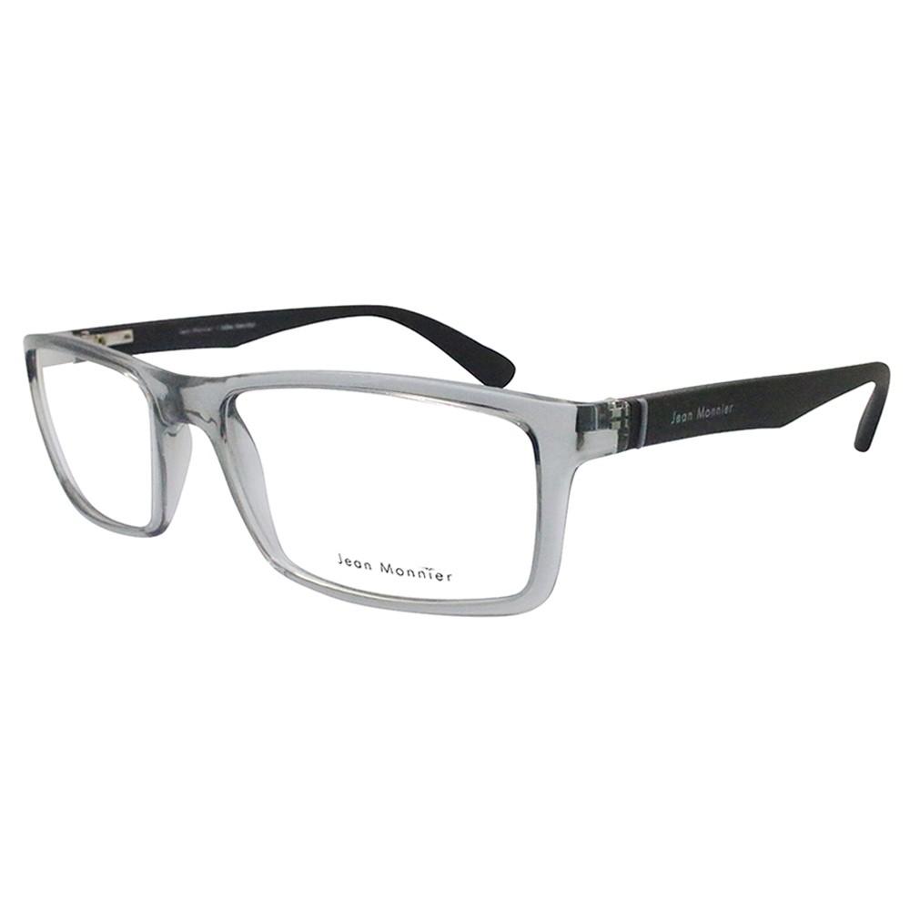 10d3378ad0f51 Óculos de Grau Jean Monnier Retangular Acetato Cinza Aro Fechado Sem  Plaquetas 0j83150 e088 55 ...