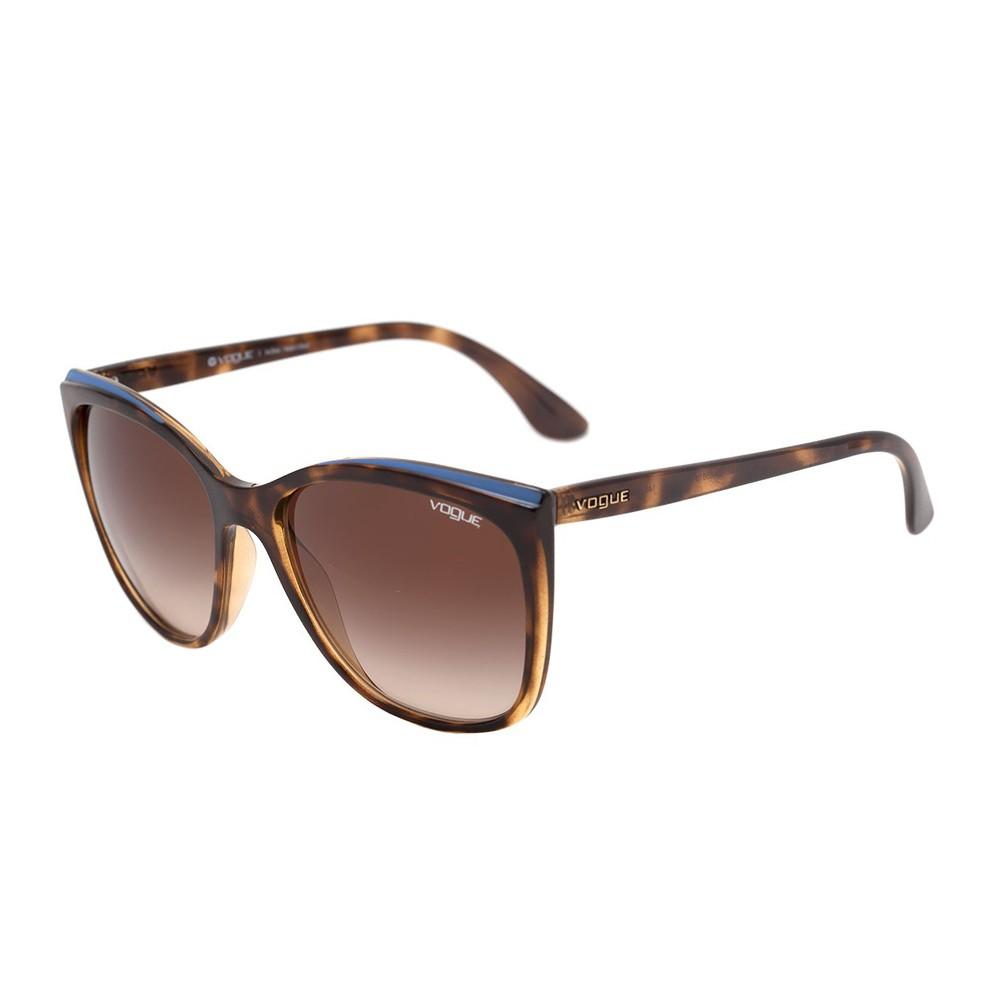 ee5caa28d491d Óculos de Sol Vogue Quadrado Armação Acetato Tartaruga Lente Marrom Degradê Sem  Plaquetas 0vo5189sl w6561358 ...
