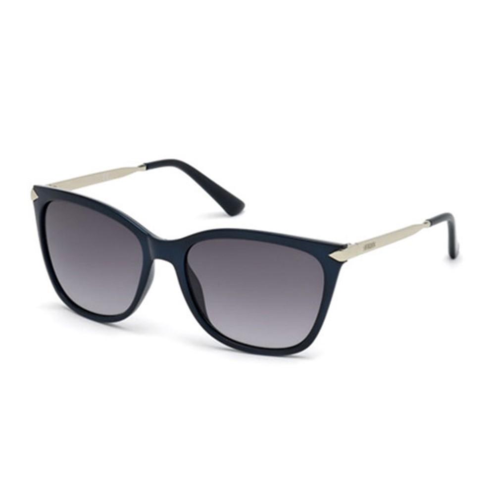 Óculos de Sol Guess Quadrado Armação Acetato Preta Lente Preta Degradê Sem  Plaquetas gu7483 5601b ... 5189f44fc7