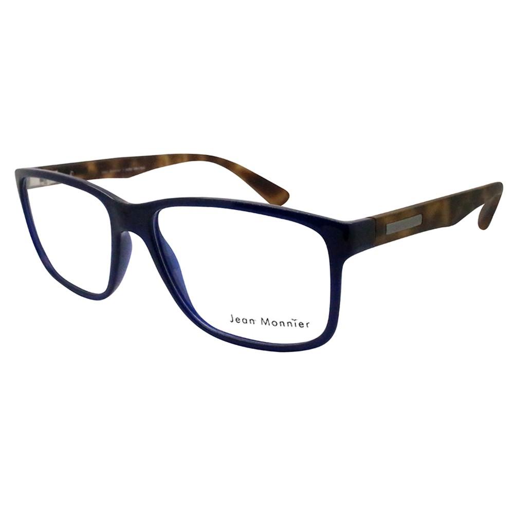 5b165772c8b89 Óculos de Grau Jean Monnier Quadrado Acetato Azul Aro Fechado Sem Plaquetas  0j83152e34155 ...