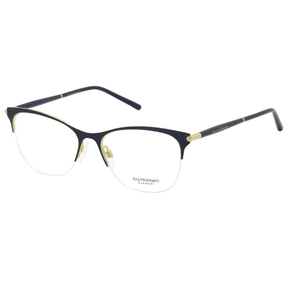 ac5699c9afc43 Óculos de Grau Ana Hickmann Gatinho Metal Azul Aro Aberto Sem Plaquetas  ah1346 06a ...