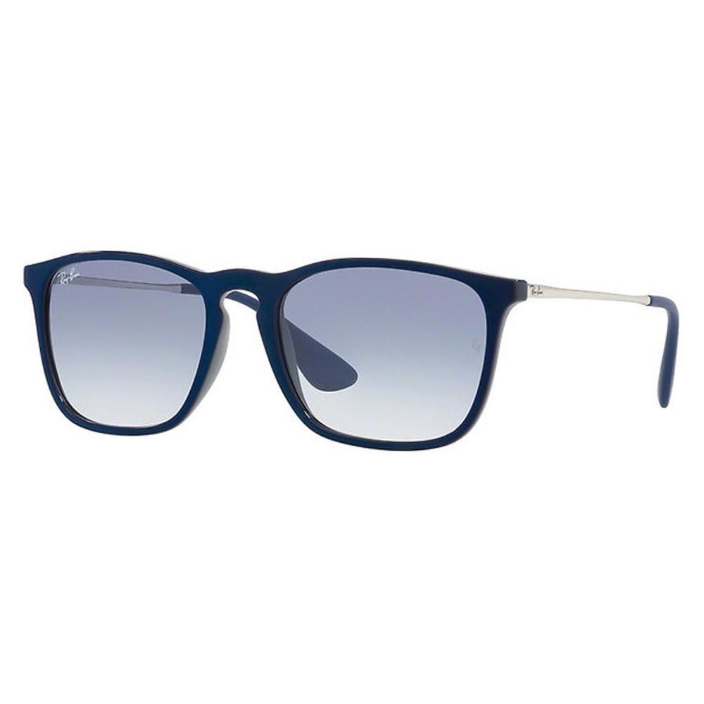 3385d50507ed3 Óculos de Sol Ray-Ban Quadrado Armação Acetato Azul Lente Azul Degradê Sem  Plaquetas 0rb4187