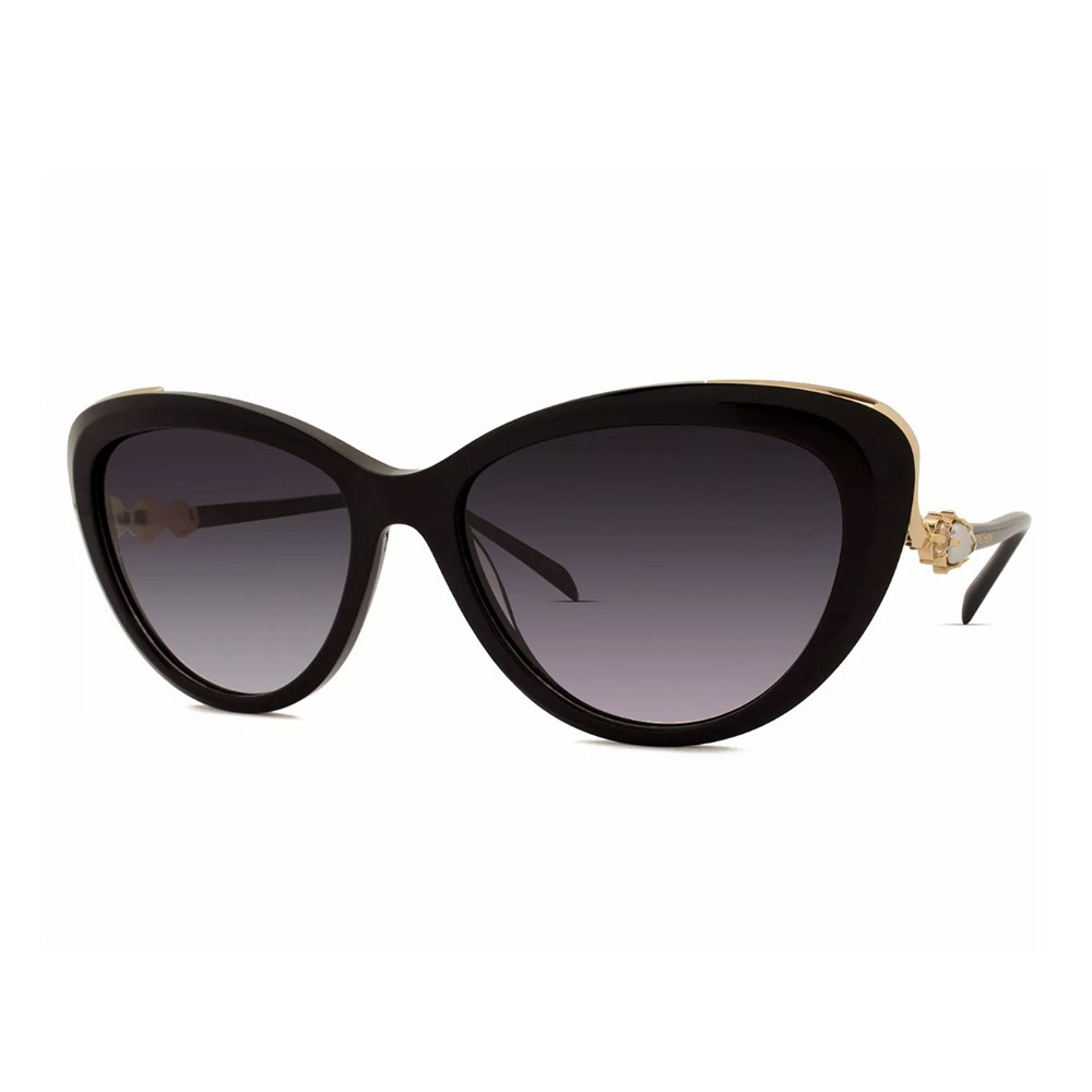 Óculos de Sol Ana Hickmann Gatinho Armação Acetato Preta Lente Preta Degradê  Sem Plaquetas ah9256 a01 ... 548dd08efc