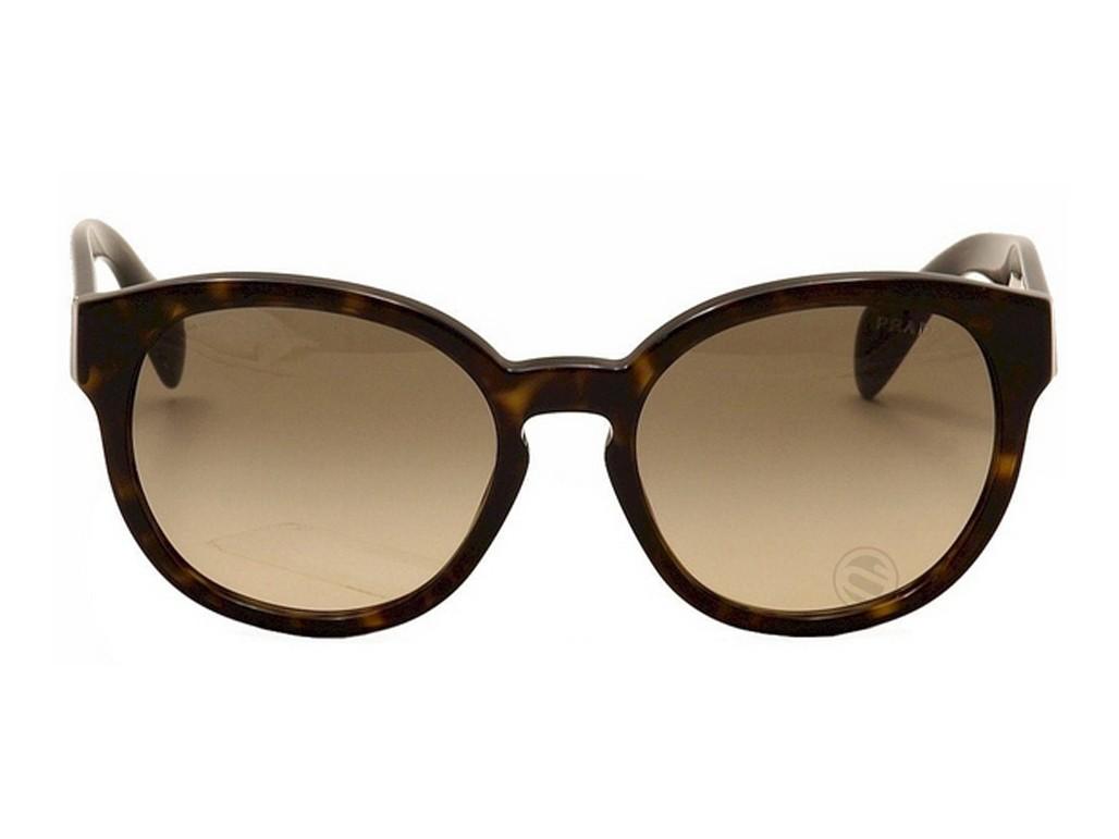 a9dae01ce52ce ... Óculos de Sol Prada Redondo Armação Acetato Tartaruga Lente Marrom  Comum Sem Plaquetas pr18rs2au3d056 ...