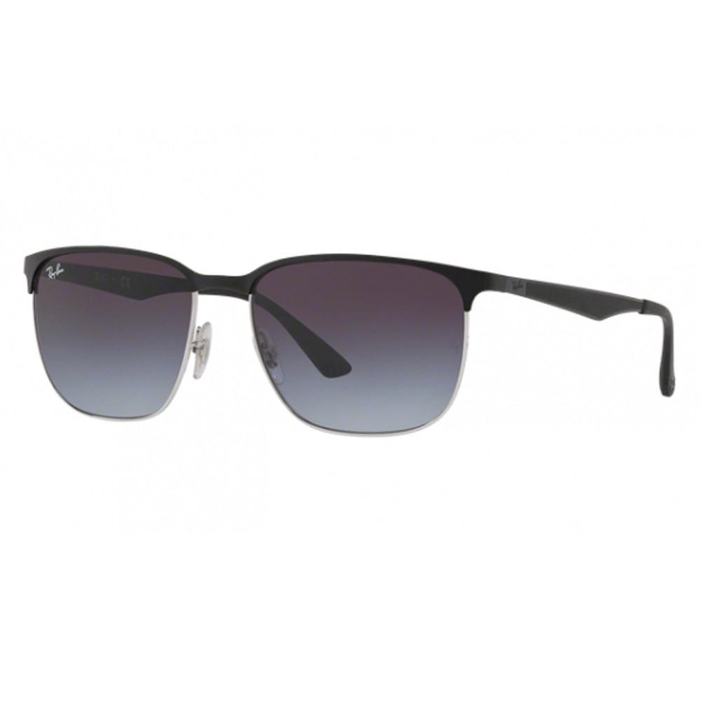 Óculos de Sol Ray-Ban Quadrado Armação Metal Preto Lente Azul Degradê Com  Plaquetas 0rb3569 ... 4d96cc5235