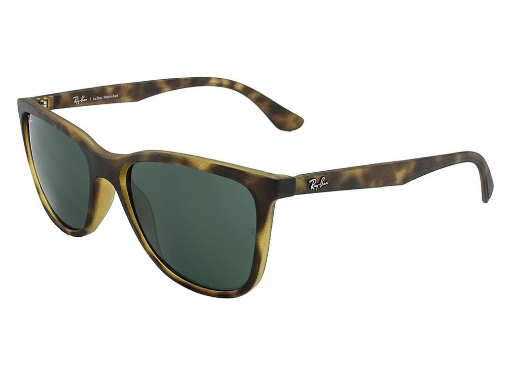 e7b4c81478185 Óculos de Sol Ray-Ban Quadrado Armação Acetato Tartaruga Lente Verde Comum  Sem Plaquetas 0rb4272l