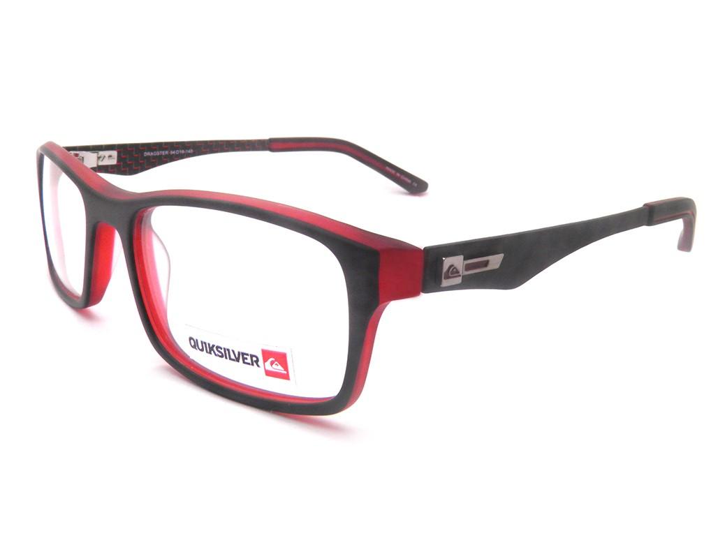 9c10cbe8c4008 Óculos de Grau Quiksilver Retangular Acetato Preta Aro Fechado Sem  Plaquetas Dragster eqyeg03001srne0un Masculino