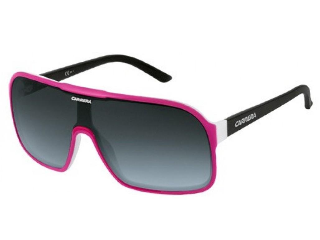 e5b32f9079ea8 Óculos de Sol Carrera Máscara Armação Acetato Rosa Lente Preta Degradê Sem  Plaquetas 5530 ...