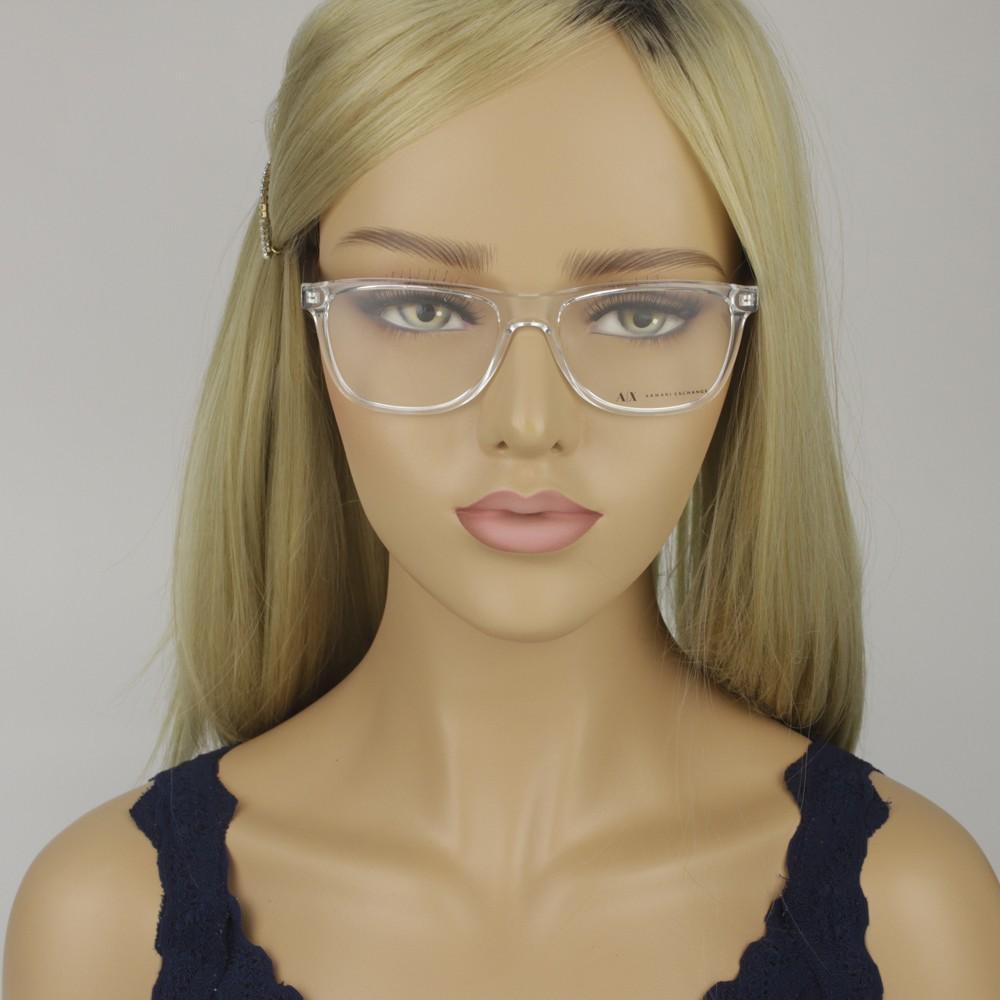 ... Óculos de Grau Armani Exchange Quadrado Acetato Transparente Aro  Fechado Sem Plaquetas 0ax3048l 8235 54 ... c280251f01
