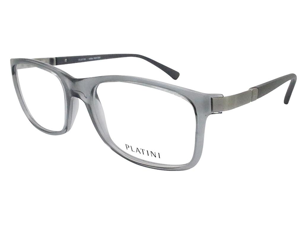 Óculos de Grau Platini Quadrado Acetato Cinza Aro Fechado Sem Plaquetas  0p93116 d768 54 e874824a62