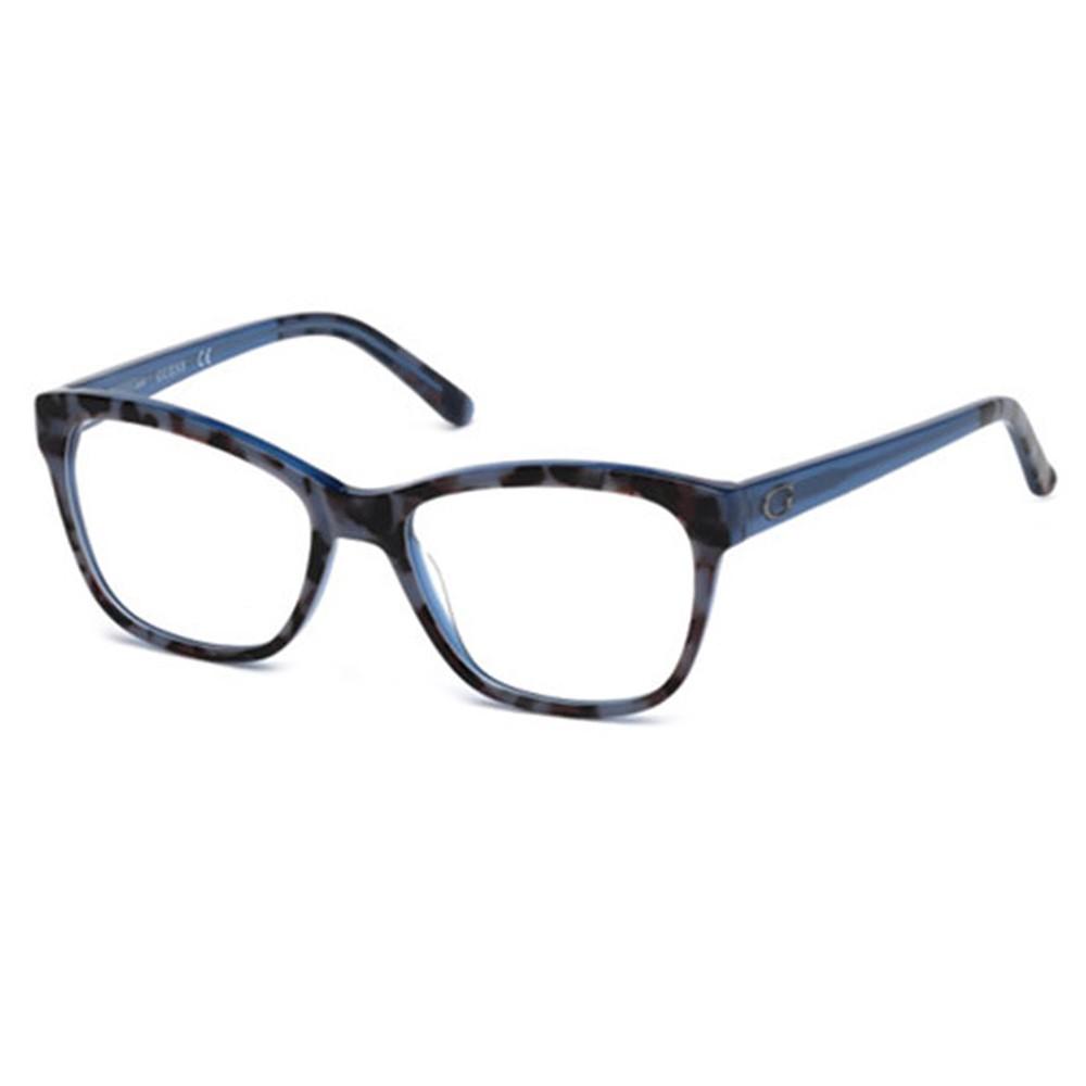 Óculos de Grau Guess Quadrado Acetato Azul Aro Fechado Sem plaquetas  gu2541 54092 c2a465a92f