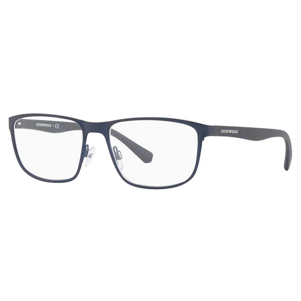 Óculos de Grau Emporio Armani Quadrado Metal Azul Aro Fechado Com Plaquetas  0ea1071 319655 ... deb99f7881