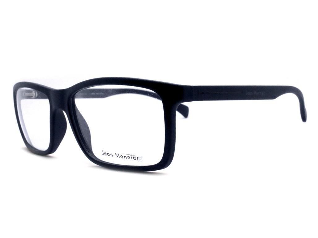 e3f24e08f8b7f Óculos de Grau Jean Monnier Retangular Acetato Azul Aro Fechado Sem  Plaquetas 0j83125 d125 53 ...