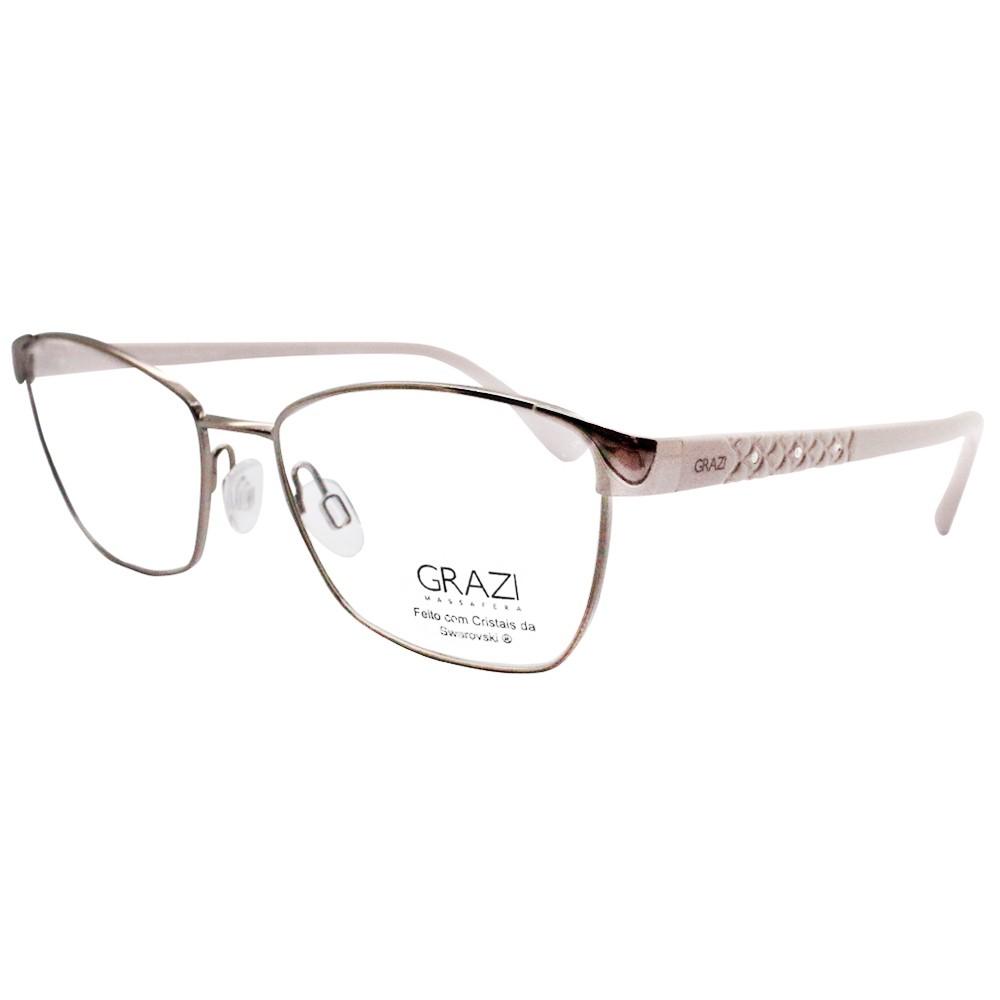 39dc72ac704d0 Óculos de Sol Grazi Massafera Quadrado Armação Acetato Marrom Lente Preta  Comum Sem Plaquetas 0gz4014 d841