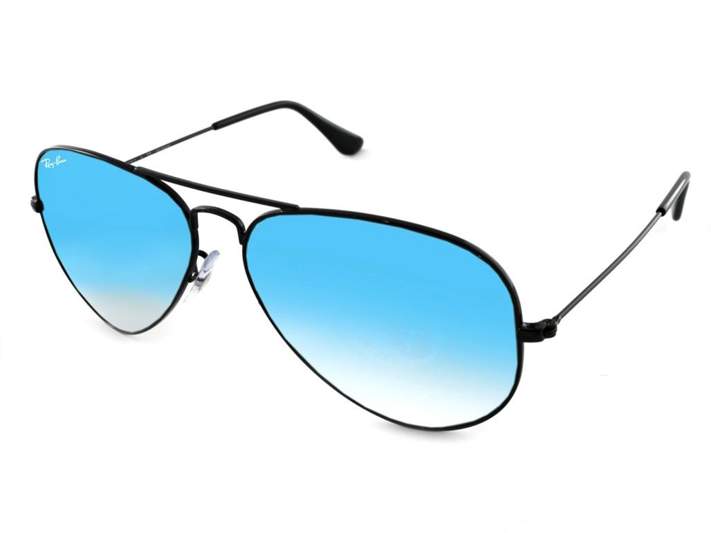 Óculos de Sol Ray-Ban Aviador Armação Metal Preta Lente Azul Espelhada Com  Plaquetas 0rb3025002 6e6bfda100