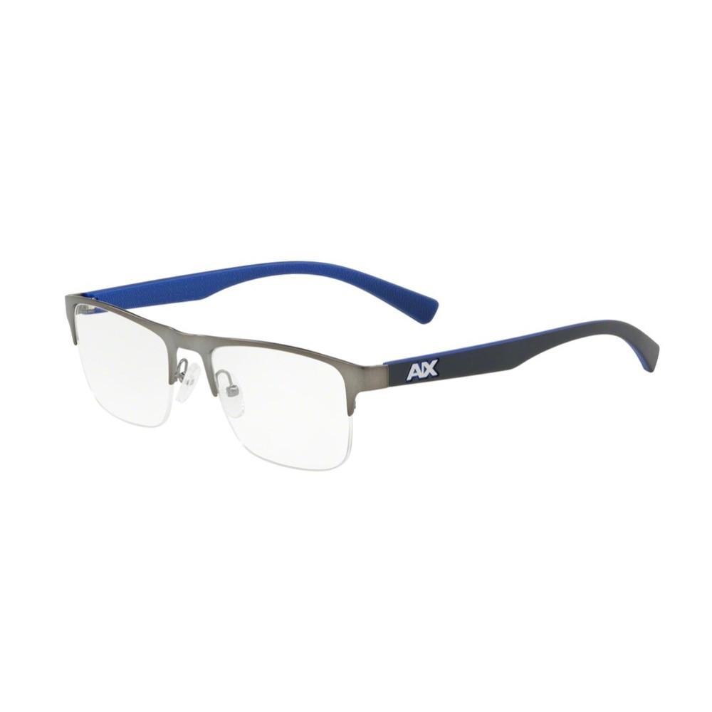 Óculos de Grau Armani Exchange Retangular Metal Cinza Aro Aberto Com  Plaquetas 0ax1031 6088 54 ... cab4a4aed6