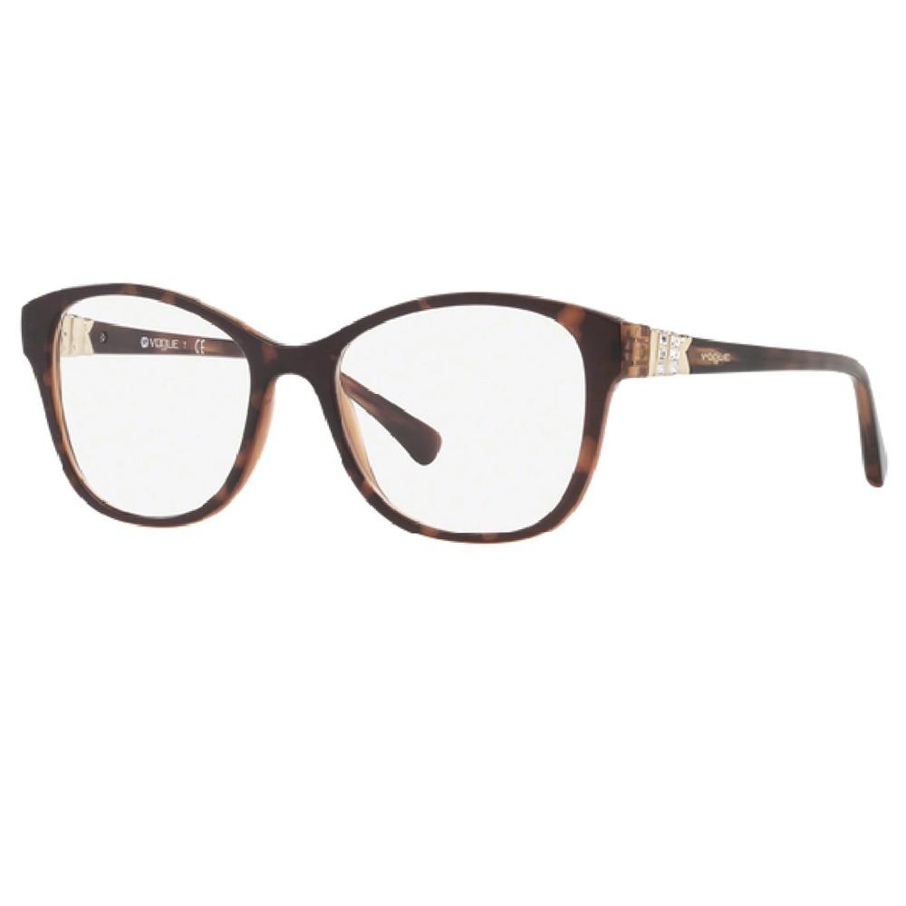 3f59d5a46a3e1 Óculos de Grau Vogue Gatinho Acetato Tartaruga Aro Fechado Sem Plaquetas  0vo5169b 2386 52 ...