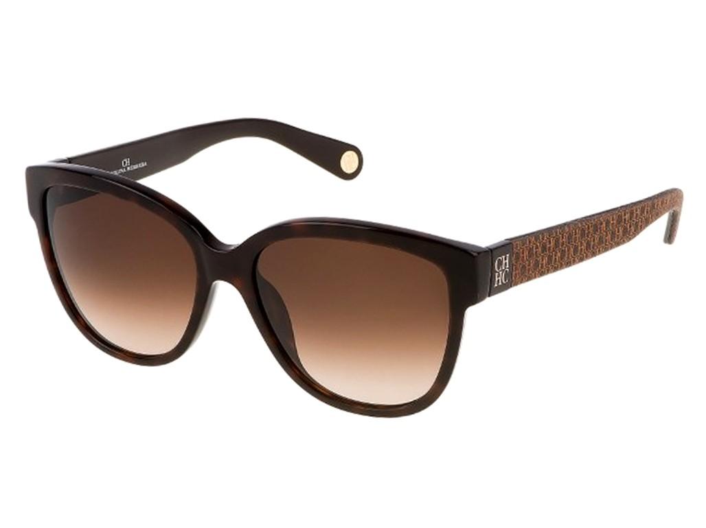9ade58c8143d2 Óculos de Sol Carolina Herrera Quadrado Armação Acetato Marrom Lente Marrom  Degradê Sem Plaquetas she6455409xk