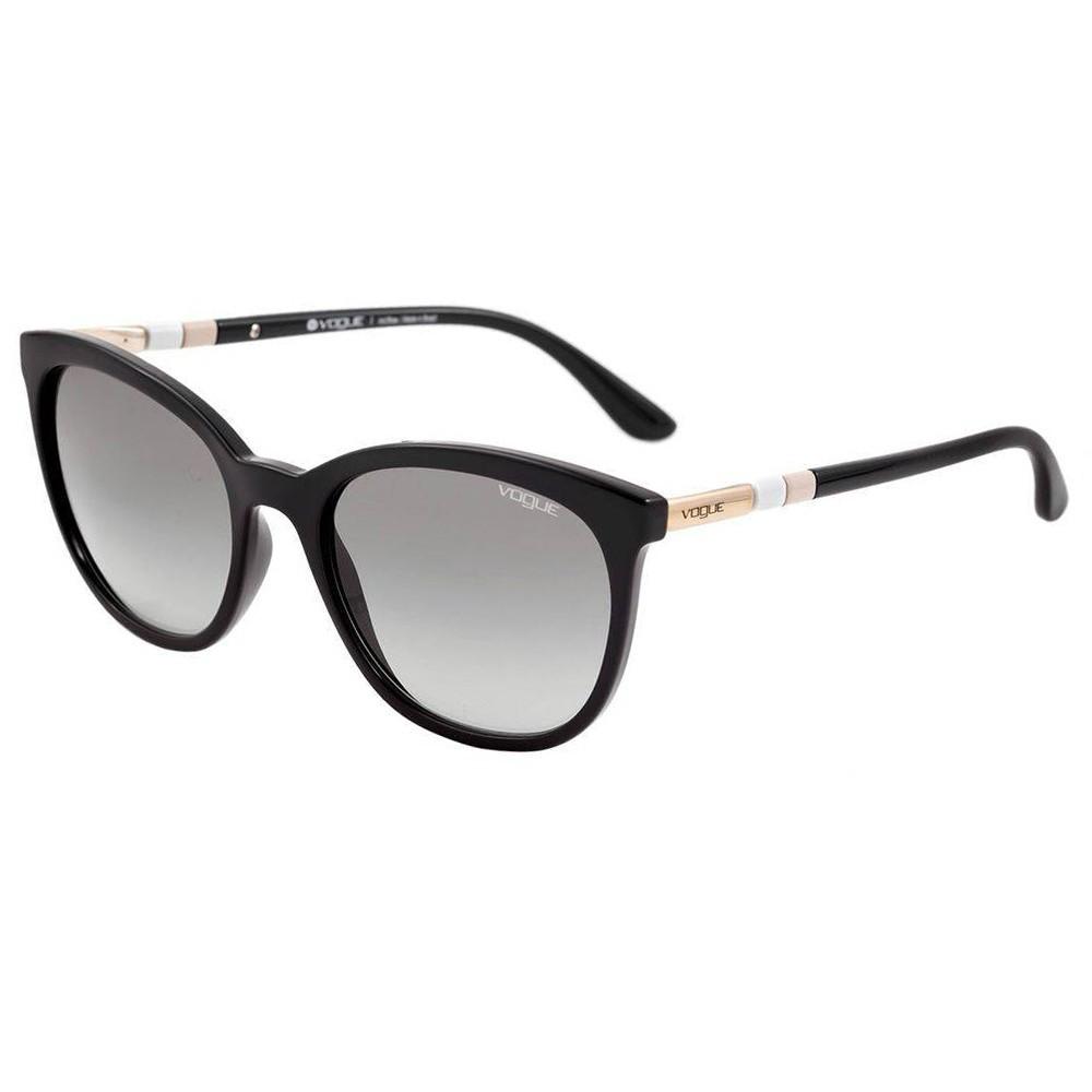 3c388d27de281 Óculos de Sol Vogue Gatinho Armação Acetato Preta Lente Preta Comum Sem  Plaquetas 0vo5123sl w44  ...