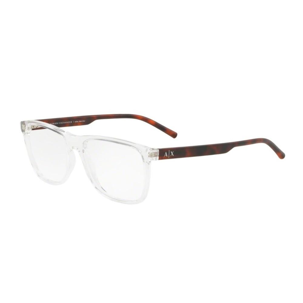 Óculos de Grau Armani Exchange Quadrado Acetato Transparente Aro Fechado  Sem Plaquetas 0ax3048l 8235 54 ... ba52c4c493