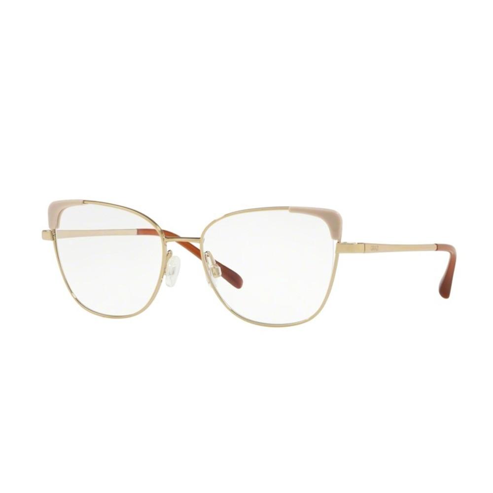 a5ea7642492a6 Óculos de Grau Grazi Massafera Gatinho Metal Bege Aro Fechado Com Plaquetas  0gz1013 f921 52 ...