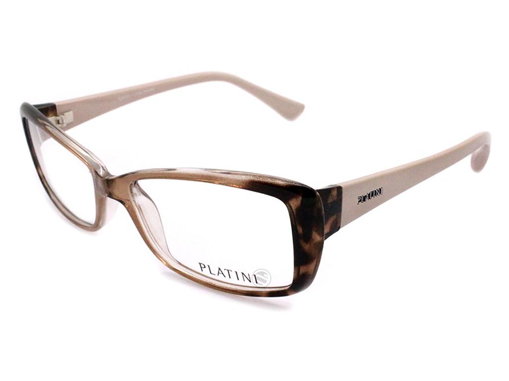 38c40e8b0af26 Óculos de Grau Platini Retangular Acetato Tartaruga Aro Fechado Sem  Plaquetas 0p93117d77152